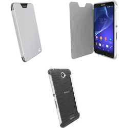 Krusell Bodenflip Cover For Sony Xperia E4 e4 Dual - Transparent White