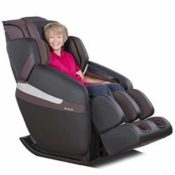RELAXONCHAIR Mk-classic Full Body Zero Gravity Shiatsu Massage Chair With Built-in Heat And Air Massage System Brown