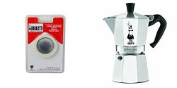 Bialetti 6800 Moka Express 6-CUP Stovetop Espresso Maker W replacement Gasket And Filter For 6 Cup