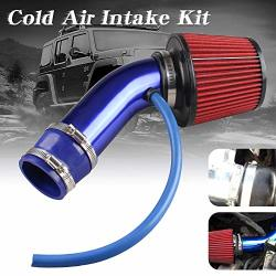 Sporacingrts Cold Air Intake Pipe 76MM 3 Inch Universal Performance Car Cold Air Intake Turbo Filter Aluminum Automotive Air Fil
