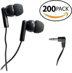 Smithoutlet 200 Pack Classroom Student Testing Headphones Earbuds In Bulk