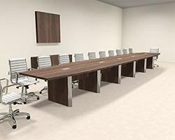 Modern Boat Shaped 24' Feet Conference Table OF-CON-CP39