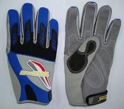 Tork Craft Synthetic Leather Palm Air Mesh Mechanics Glove in Back Blue Medium