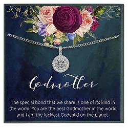 Grace Of Pearl Godmother Necklace For Godmother Gift For Godmother Thank You Gift For Godparent Gift From Goddaughter
