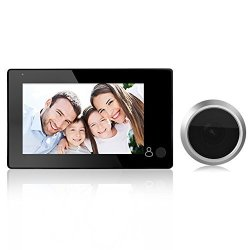 Awakingdemi Peephole Viewer Door Viewer 4.3INCH Lcd Digital Video Doorbell Eye Camera Monitor With 145 Degree One Button