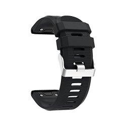 26MM Watchband For Garmin Fenix 5X Plus 3 3 Hr Watch Quick Release Silicone Easy Fit Smartwatch Wrist Band Strap Black