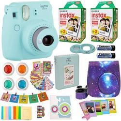 Fujifilm Instax MINI 9 Camera + Fuji Instant Instax Film 40 Sheets Includes Galaxy Camera Case + Assorted Frames + Photo Album +