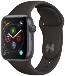 Apple Watch Series 4 44mm in Space Gray & Black Sport Band