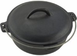 TOTAI - 2.2L Cast Iron Caldron Pot Black