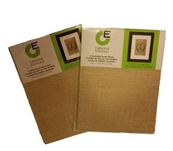 """Creative Essentials Printable Laminated Burlap Sheets- 8 1 2"""" X 11"""" - Two Packs Of 3 Each"""