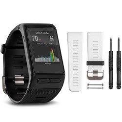Garmin Vivoactive Hr Gps Smartwatch - XL Fit White Band Bundle Includes Vivoactive Hr S