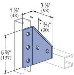 UNISTRUT Genuine P1727-EG 5 Hole 90 Degree Angle Connector Bracket For All  1-5 8