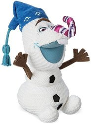 """Olaf Plush - Olaf's Frozen Adventure - Small - 7 1 2"""" W Candy Cane Nose"""