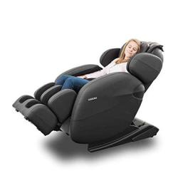 Space-saving Zero Gravity Full-body Kahuna Massage Chair Recliner LM6800 With Yoga & Heating Therapy Black