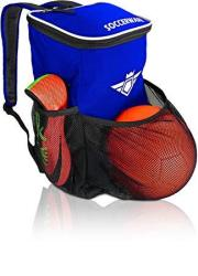 Soccerware Soccer Backpack With Ball Holder Compartment - For Kids Youth Boys & Girls Bag Fits All Soccer Equipment & Gym Gear B
