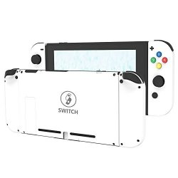 BASSTOP Diy Replacement Housing Shell Case Set For Switch Ns Nx Console And  Right Left Switch Joy-con Controller Without Electronics Set D-pad-white |