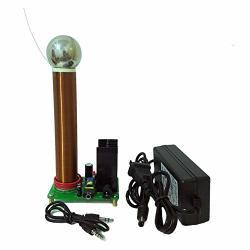 JIAYI 20W MINI Tesla Coil Plasma Speaker Music Tesla Wireless Transmission Test