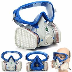 PiggiesC Full Face Respirator Mask Double Filter Air Breathing Chemical Gas Protection Piggiesc Full Face Respirator Mask Double Filter Air Breathing Chemical Gas Protection