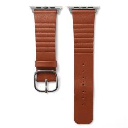 Leather Buckle 38MM Band For Apple Watch - Brown