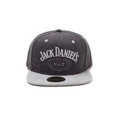 Jack Daniels Baseball Cap Black Classic Logo Official Black Snapback