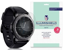 ILLumiShield Samsung Gear S3 Frontier Screen Protector SM R760 46MM 3 PACK Anti Glare For Front
