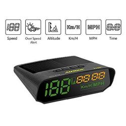 AUTOOL Universal Car Hud Gps Speedometer Mph km h LED Head Up Display Digital Auto Speed Overspeed Alarm For All Vehicles