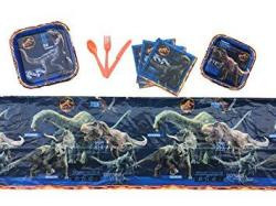Multiple Jurassic World Fallen Kingdom Birthday Party Supplies Tableware For 16 Guests