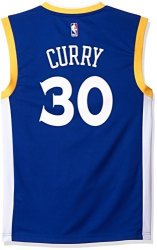 SLD Of The Adidas Group Nba Golden State Warriors Stephen Curry 30 Men's Stretch Replica Jersey Medium Blue