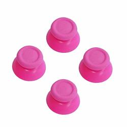 Xinkeen 2 Pairs Thumbsticks Analog Thumb Sticks For Sony Playstation Dual Shock 4 PS4 Controller Fits Xbox One Controller Pink