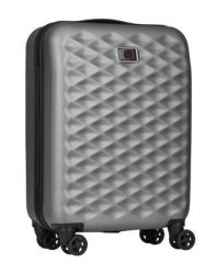 "WENGER Lumen 20"" 55CM Small Carry-on 4 Wheel Suitcase Silver"