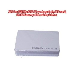 TopOne 100 Pcs 125KHZ Rfid Id Card Proximity Iso Card EM4100 Compatible Cards 0 8MM