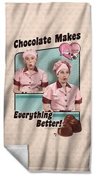 LUCY - Friends And Chocolate Beach Towel 36 X 57IN
