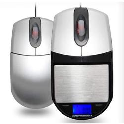 500G 0.1G Computer Optical Mouse Functional With Digital Pocket Scale Accurate Jewelry Mg Scale & Stash Compartment