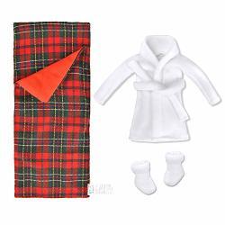 E-TING Sleeping Bag Christmas Accessory For Elf Doll Doll Is Not Included Sleeping Bag + Bathrobe