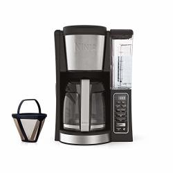 Ninja 12-CUP Programmable Coffee Maker With Classic And Rich Brews 60 Oz. Water Reservoir And Thermal Flavor Extraction CE201 Black stainless Steel
