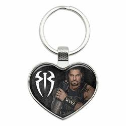 Wwe Roman Reigns Locked And Loaded Keychain Heart Love Metal Key Chain Ring