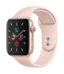 Apple Watch Series 5 44mm in Gold & Pink Sport Band GPS Only