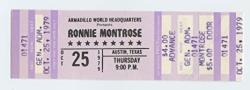 USA Ronnie Montrose Ticket 1979 Oct 25 Austin Tx Unused