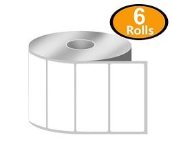 """Betckey - 3"""" X 1.5"""" Barcode Shipping & Address Labels Compatible With Zebra & Rollo Label Printer Premium Adhesive & Perforated 6 Rolls 5700 Labels"""