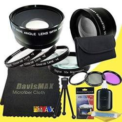 62MM Macro Close Up Kit + Wide Angle + 2X Telephoto Lenses + 3 Piece Filter  Kit For Canon Eos 60D With Canon 18-200MM   R3128 00   Accessories  