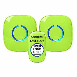 Customize Your Sadotech Wireless Doorbell Easy Install Over 1000-FEET Range 52 Usa Chimes Adjustable Volume And LED Flash Model Cxr Green