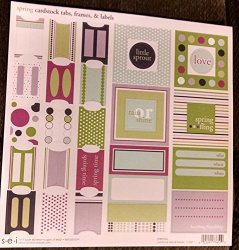 Sei 12X12 Sticker Sheet - Spring Cardstock Tabs Frames & Labels
