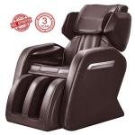 Full Body Massage Chair Zero Gravity & Air Massage Foot Roller Shiatsu Recliner With Heater And Vibrating Brown