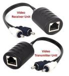 AllAboutAdapters Composite Rca Video Balun Extender Over CAT5 CAT5E CAT6 Cable