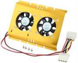 HARD Disk Cooler Fan Alluninium X 2 Fan