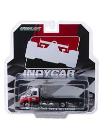 International Durastar Flatbed Truck White And Red Indycar Series Hobby Exclusive 1 64 Diecast Model By Greenlight 30033