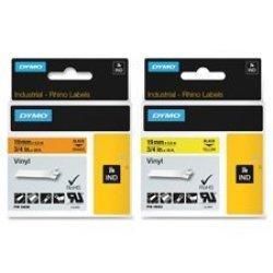"Dymo Vinyl Labels 3 4""X18FT Black yellow Sold As 1 Each"