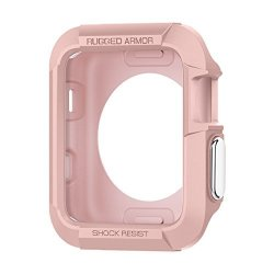 Spigen Rugged Armor Apple Watch Case 38MM With Resilient Shock Absorption For 38MM Apple Watch Series 3 SERIES 2 1 ORIGINAL 2015