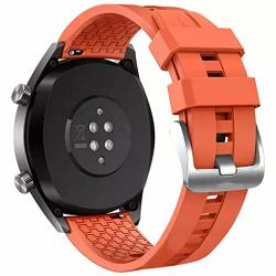 Startview Silicone Watch Band Wrist Strap Rubber Bracelet For Huawei Watch GT Active 46MM Honor Magic Orange