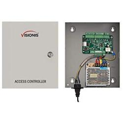 Visionis VS-AXESS-1ETL One Door Network Access Control Panel Controller Board With Cabinet Tcp Ip Wiegand With Desktop Software